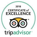 Tripadvisor | 2018 Certificate of Excellence