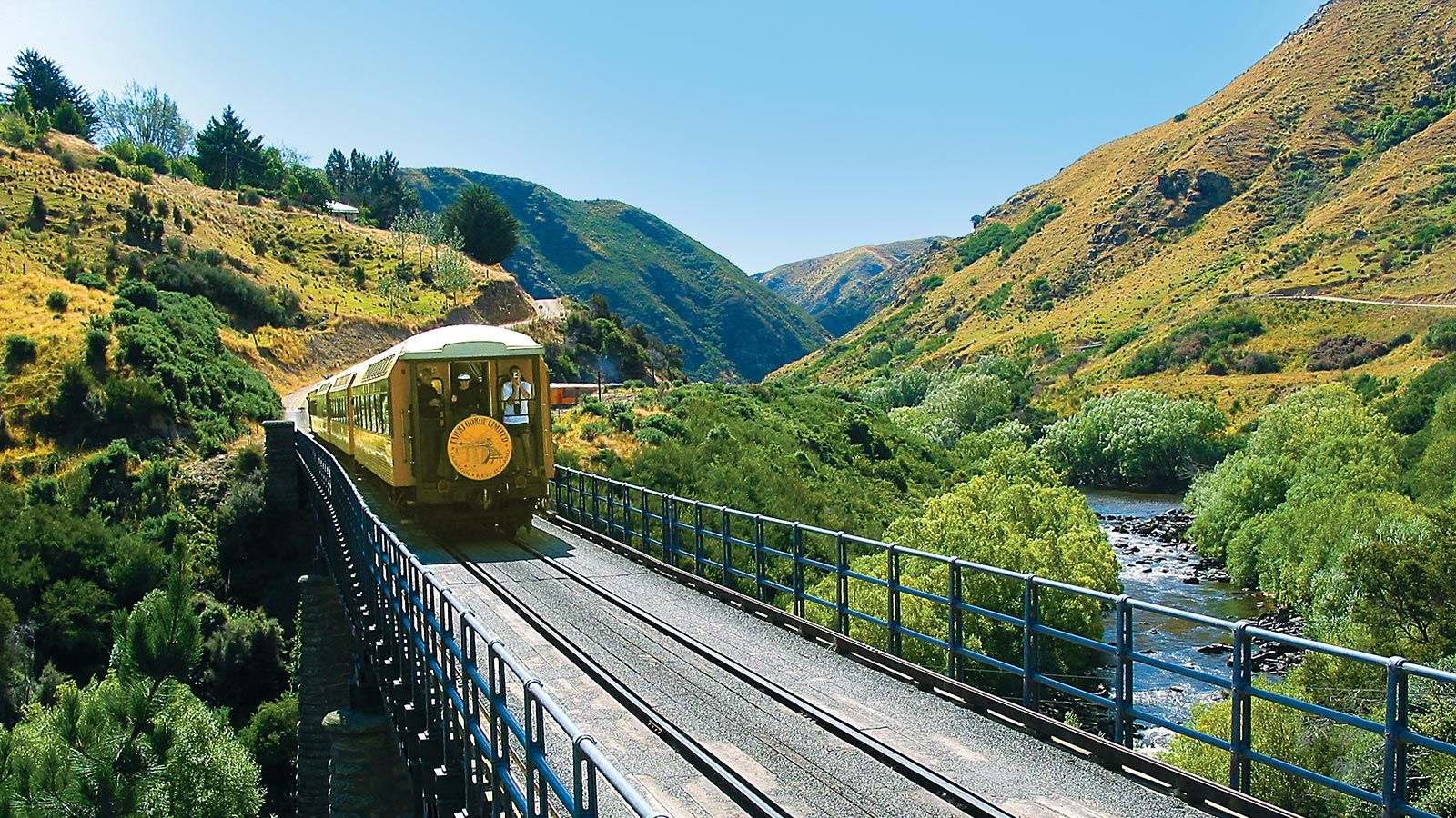 Still from Taieri Gorge Railway video